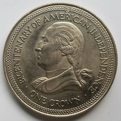 1976 Isle of Man Bicentenary of American Independence One Crown [13]