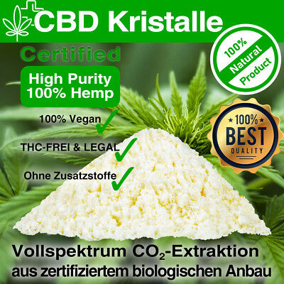 CBD Kristalle ⭐ Terpene HERRLAN® aus Bio Anbau⭐Made in Germany⭐ Kristall >99,6%