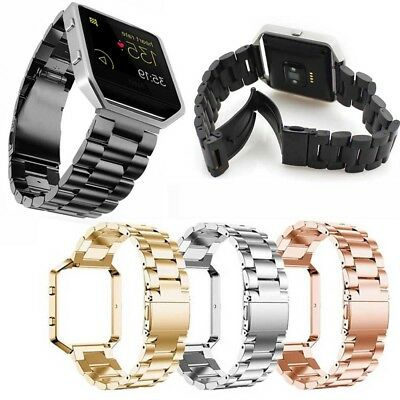 For Fitbit Blaze Stainless Steel Metal Watch Band Wrist Strap Smart Metal Frame