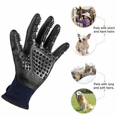 Pet Cat Dog Horse Cleaner Grooming Gloves Brush Hair Fur Remover Shed Massage