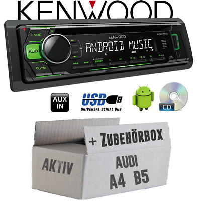 Kenwood Radio per Audi A4 B5 Attivo Verde CD/MP3/USB Android-Steuerung