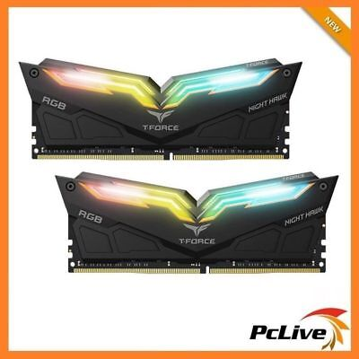 Team T-Force Night Hawk RGB 16GB DDR4 3200 Mhz Memory Gaming 2x 8GB Desktop RAM