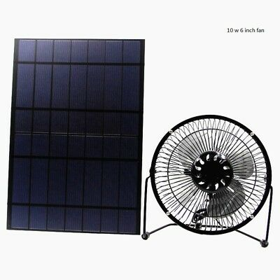 Solar Powered Attic Ventilator Gable Roof Vent Fan with 10W Foldable Solar Panel