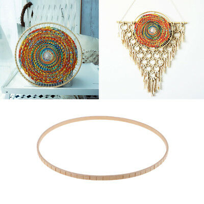 Round Wooden Knitting Loom DIY Craft Weaving Tool for Handmade Wall Hanging