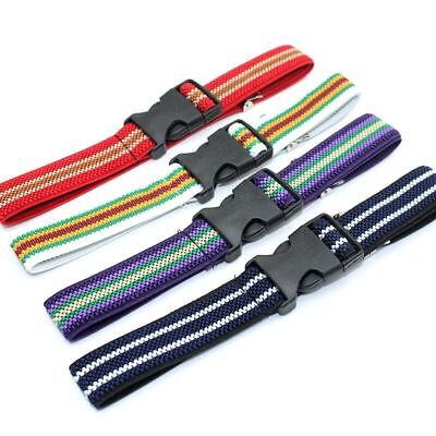 Children Plastic Buckle Belt For Kids Adjustable Length Striped Canvas 60*2.5cm