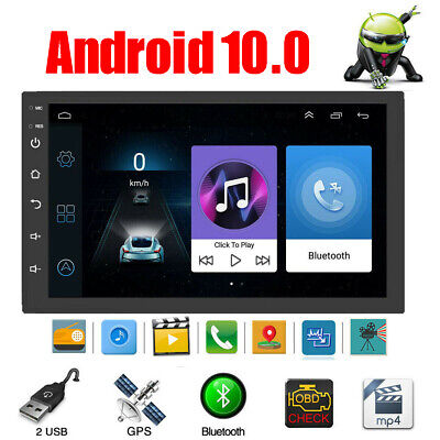 """Double 2 DIN Android 8.1 7"""" Touch Car GPS Stereo Radio Quad Core MP5 Player WIFI"""