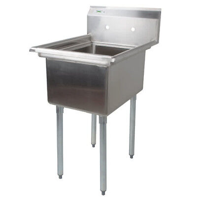 """22"""" Stainless Steel One Compartment NSF Vegetable Prep Sink without Drainboard"""