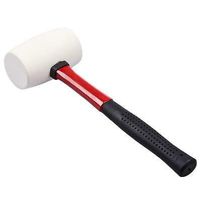 16oz White Rubber Hammer Mallet Fibre Handle Camping Racking Golf Tool