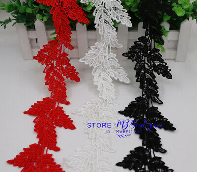 1 Yard Embroidered Lace Edge Trim Ribbon Wedding Applique DIY Sewing Craft FP51