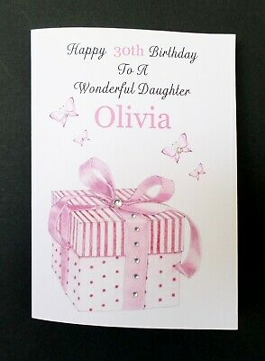 Handmade Personalised Birthday Card Daughter Granddaughter Sister Friend Any Age