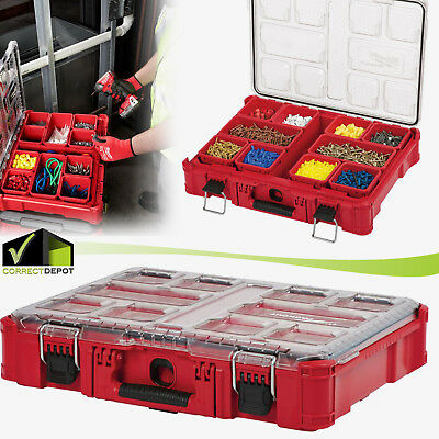 11 Compartment SMALL PARTS ORGANIZER Storage Box Heavy Duty Packout Milwaukee