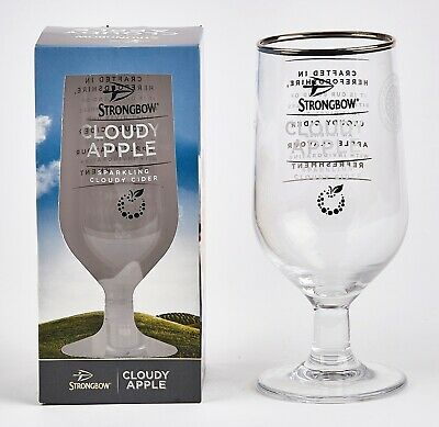 Strongbow Cloudy Apple Cider Glasses. Bar Party. Collectable x 2