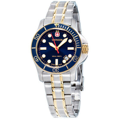 Wenger Battalion III Diver Blue Dial Stainless Steel Ladies Watch 72336