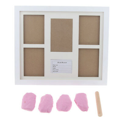 Baby Keepsake Footprint Hand Print Photo Frame Ink Pad Picture- Pink