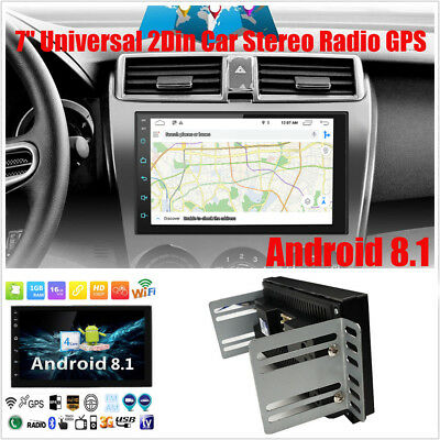 """7"""" GPS navigation Android 8.1 Double 2DIN Car Auto Stereo Radio WIFI"""