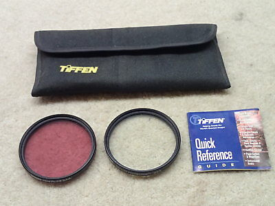 Tiffen 72mm UV Protector and FL-D Filters USA Nice with Case