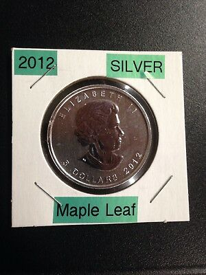 2012 $5 Silver Canadian Maple Leaf 1 oz Brilliant Uncirculated