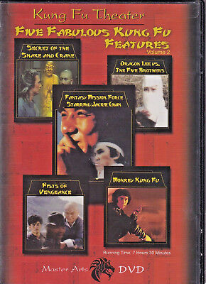 KUNG FU THEATER: Five Fabulous Kung Fu Features Vol. 2 (DVD 2008 5-Disc Set) (C)
