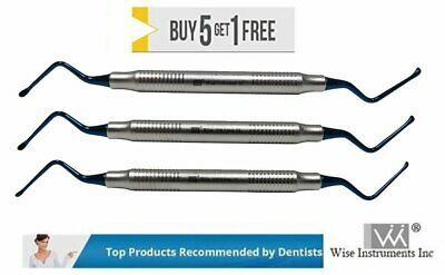Wise Lucas Curette Dental/Surgical Bone Curettes Serrated Set of 3PCS.