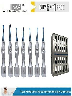 PDL Luxating Root Elevators Micro Serrated Tip Implants Dental Surgical Set of 7