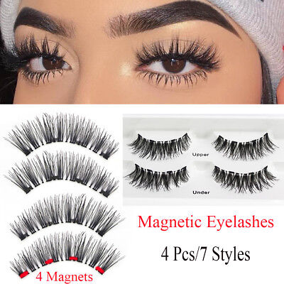 Full Coverage False Eyelashes Four Magnets Magnetic Eyelashes Cross Wispy