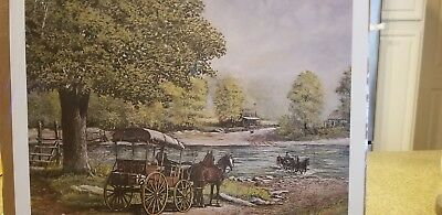 Winter at Granny/'s Place by Fred Thrasher  30th Anniversary Signed by Fred 5X7