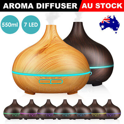 550ml Air Humidifier Purifier Essential Oil Diffuser Aroma Aromatherapy Lamp LED
