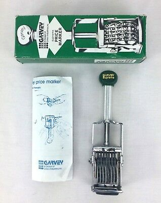 Vintage GARVEY Supreme Price Marker Model S62 with Box And Instructions
