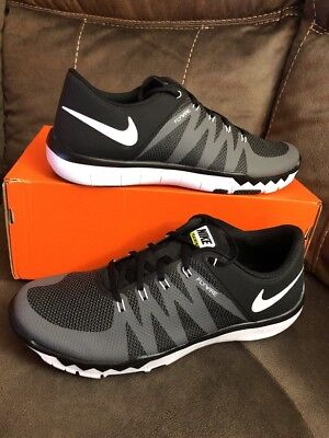 finest selection 27287 23f7f Mens Nike Free Trainer 5.0 V6 Running Shoes Size 15 Black Grey White 719922  010