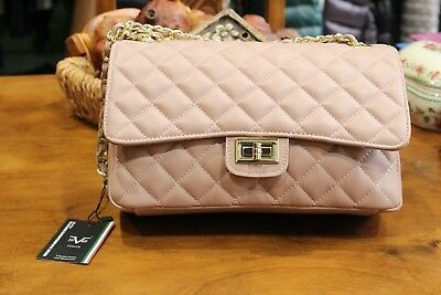 dba9d88660a VERSACE 19.69 Women's 100% Leather Pink Quilted Handbag Free Shipping New w  Tags