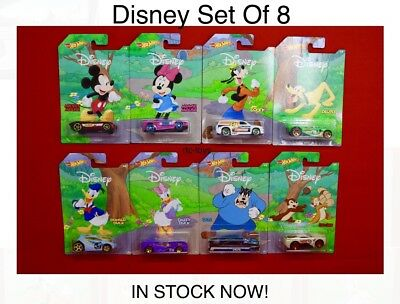 Hot Wheels Disney 90 Years Of Mickey & Friends 8 Car Set New IN STOCK NOW! RLC