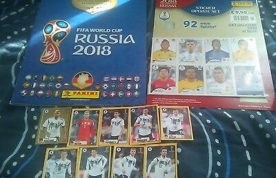 Panini World Cup 2018 Hard Cover Album Mac Donalds Gold Stickers