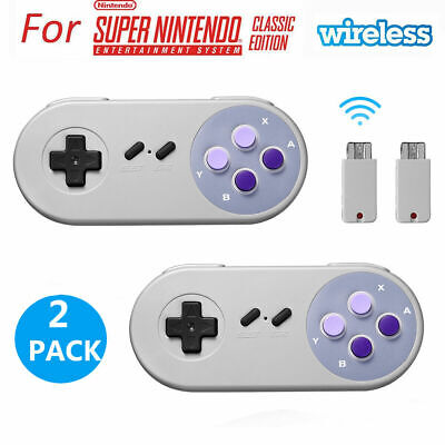 2.4GHZ USB Wireless Controller Gamepad For Super Nintendo NES SNES Classic Mini