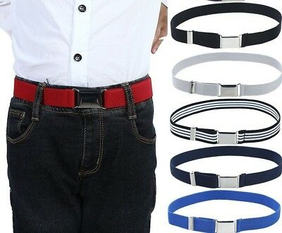 Canvas Belt For Kids Alloy Buckle Adjustable Elastic Children Waist-Belt Fashion