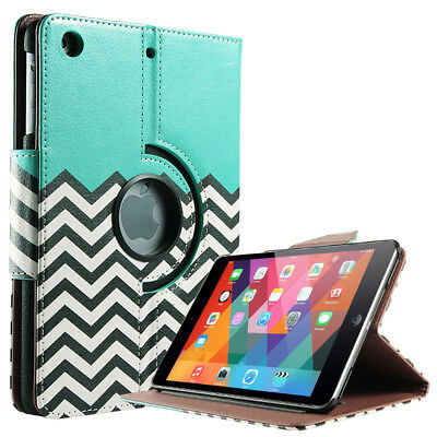 ULAK iPad Mini 1 3 Case, 360 Rotating Magnetic Leather Case Smart Sleep /Wake