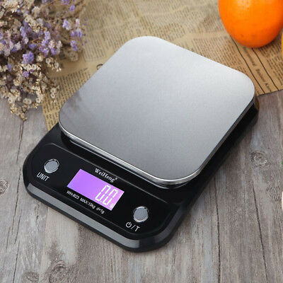 10kg/5kg Digital Electronic Kitchen Food Diet Scale Weight Balance LED Display