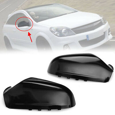 For Vauxhall Astra H MK5 Wing Mirror Covers Cap Casing 2004-2009 Gloss 6428199