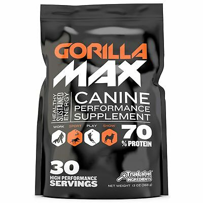 Gorilla Max Muscle Builder for Dogs (30 servings) - Brand New Sealed Package