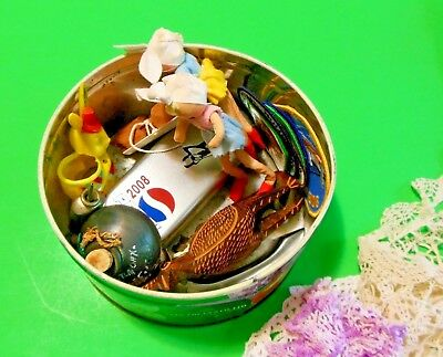 VTG JUNK DRAWER LOT/23-Pepsi Womans Golf Watch-Oaxaca Black Pottery-Bird Carving