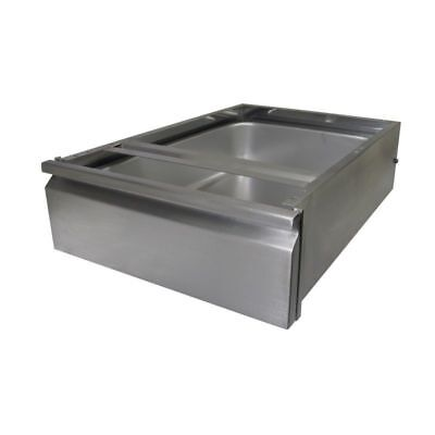 Stainless Steel Front Drawer for Food Prep Work Table 15 x 20 x 5