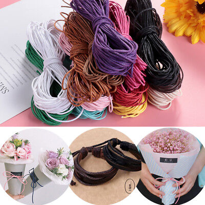 10M 1mm Waxed Cotton Cord DIY String Necklace Rope Bead Bracelet Making New