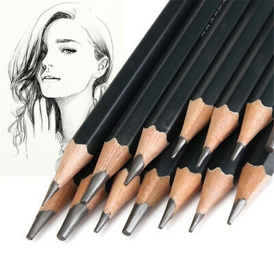 Charcoal 6H-12B Professinal Sketch Art Drawing Pencil Sketching Pencils Painting
