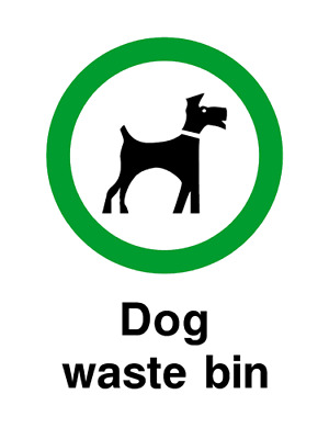 Dog Waste Bin playground safety sign