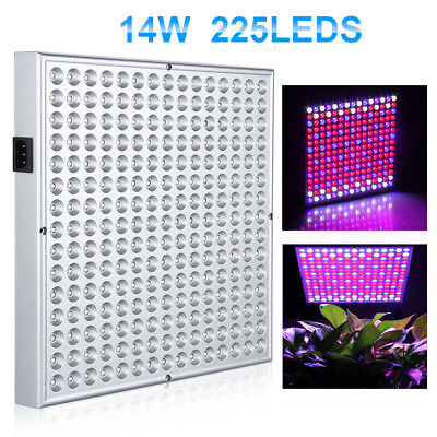 14W 225 SMD LED Hydroponic Plant Grow Light Lighting Panel 135Red 60Blue 30White