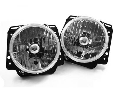 """Crystal Clear E-Code 7"""" Round Headlights for 85-92 VW MK2 Golf GTI"""