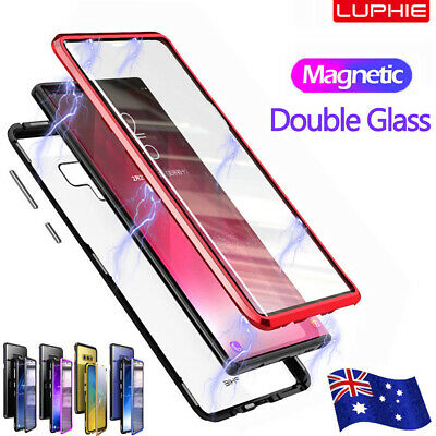 For Samsung Note 10 Plus 5G S10 S9 S8 Magnetic Adsorption Metal Case Full Cover