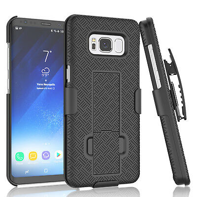 SAMSUNG GALAXY S7 S8 S9 / Plus BELT CLIP HOLSTER COMBO CASE COVER WITH KICKSTAND