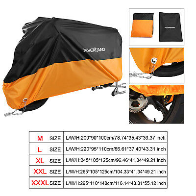 M/L/XL/XXL/XXXL Waterproof Motorcycle bike Scooter Protector Snow Rain Cover