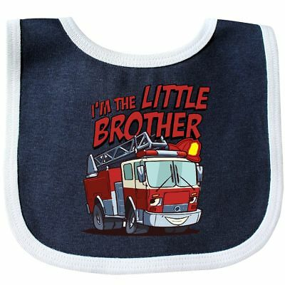 Inktastic Little Brother Fire Truck Baby Bib Engine Im The Gift Clothing Infant