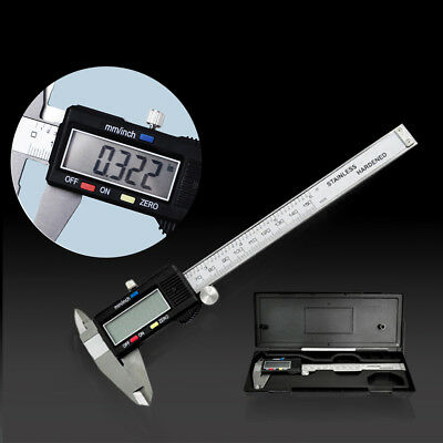 6 inch Digital LCD Vernier Caliper 150mm Stainless Steel Gauge Micrometer Tool
